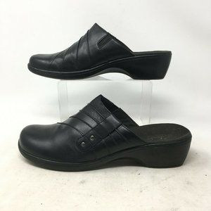 Clarks Bendables Clog Wedge Mules Slip On Shoes Pl